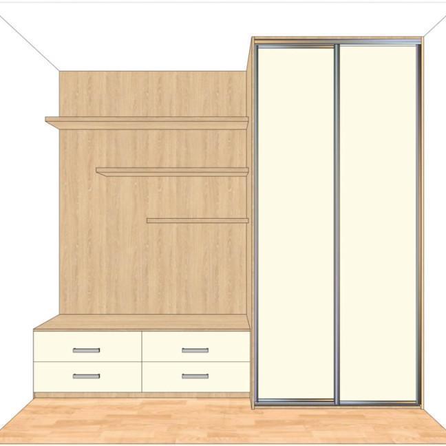 myśliwska80,13 pokój 2 szafa front