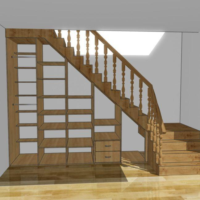 zabudowa schodów jaśminowy stok.